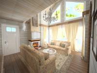 Гостинная, проект Дом у леса
