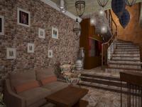 Дизайн проект холла для ресторана Чилим в Екатеринрубге