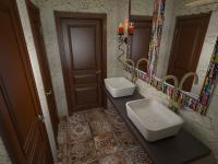 Дизайн проект туалета для ресторана Чилим в Екатеринрубге