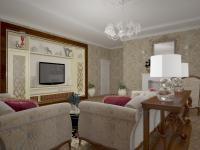 Гостиная в проекте Идеальная классика