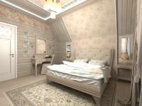 Спальня в стиле кантри в проекте Дом у леса