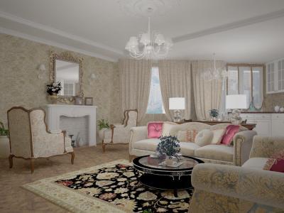 Идеальная классика дизайн проект квартиры площадью 120кв. метров