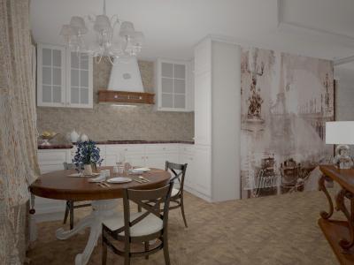 Кухня в проекте Идеальная классика