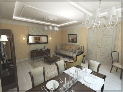 Крупным планом дизайн проект квартиры