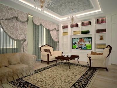 Гостинная в проекте квартиры в г. Нягань